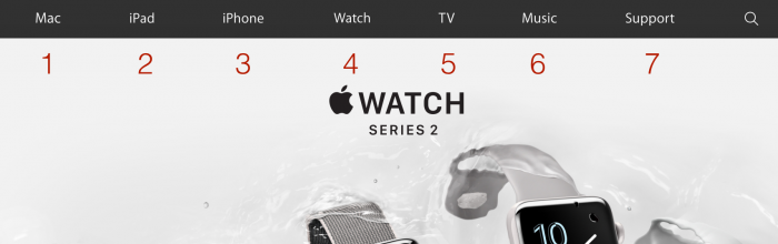 apple.com main menu